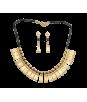 Conjunto collar y pendientes Coralina y Cacería. joyas precolombinas eliana tovar