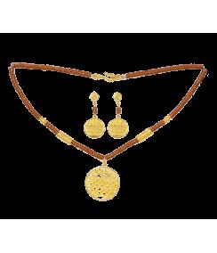 Conjunto Collar y Pendientes Medallón Sinú. Joyas Precolombinas ElianaTovar