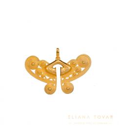 Dije Gold Nariguera Grabada Tayrona. Joyas Precolombinas Eliana Tovar