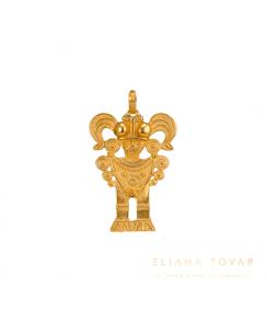 Dije Gold Zipa Tisquesusa Muisca. Joyas Precolombinas Eliana Tovar