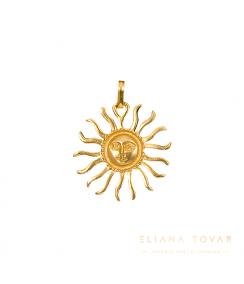 Dije grande Dios Sol. Joyas Precolombinas Eliana Tovar