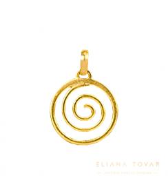 Dije Mediano Espiral en Circulo. Joyas Precolombinas Eliana Tovar